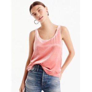 J. Crew Pink Copper Velvet Tank Top (Small)